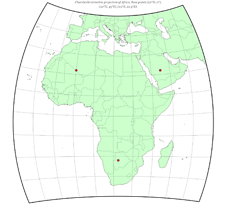 Chamberlin Trimetric Projection